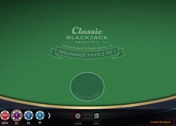 Classic Blackjack - Card Game - Golden Tiger Casino