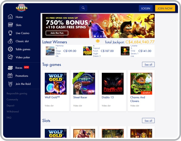 Online slots canada no deposit