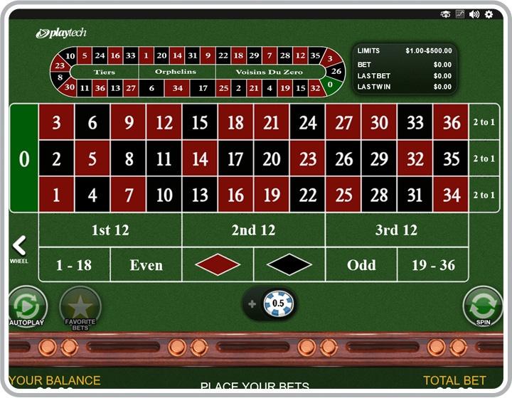 European Roulette Game