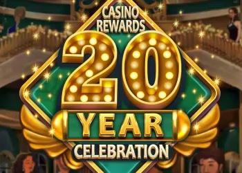 Casino Rewards 20 Year Celebration - Logo - Video Slot