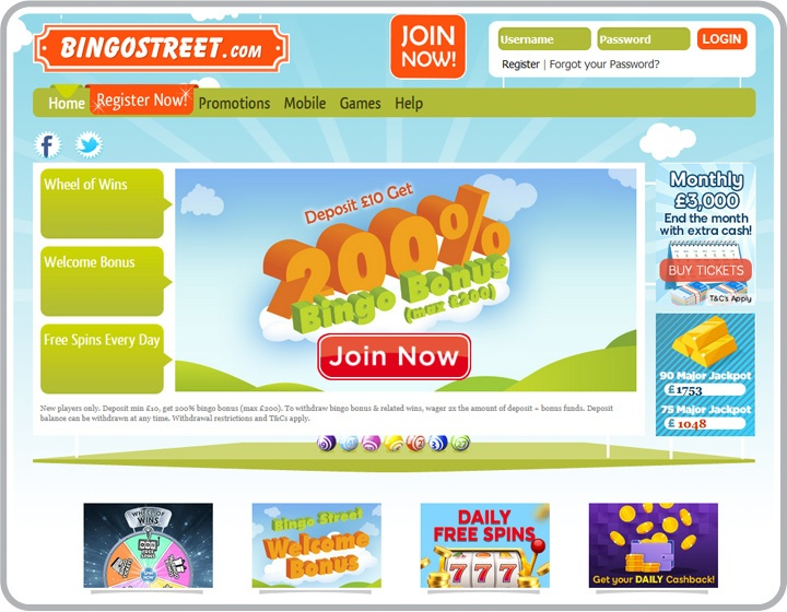 Bingo Street Website Image