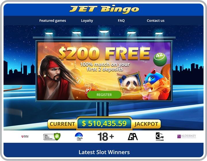 Jet Bingo Website