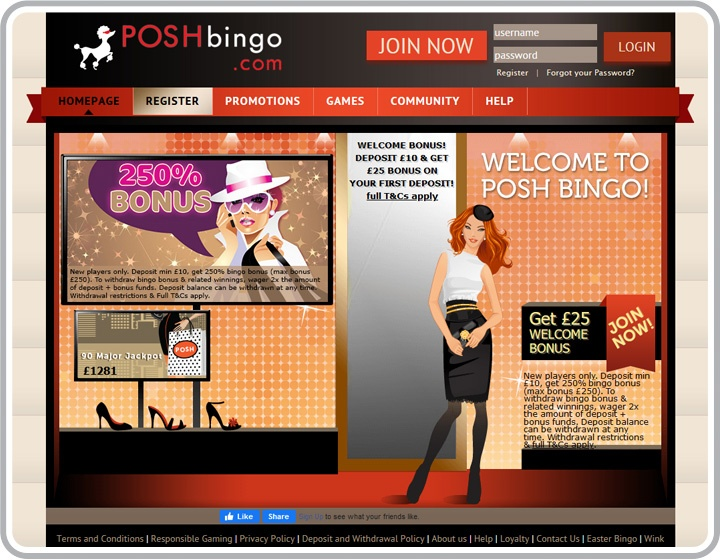 Posh Bingo Website