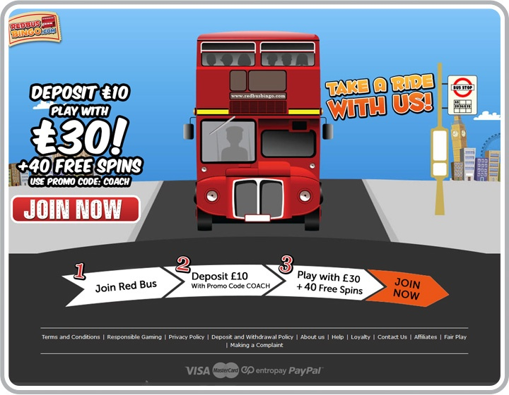 RedBus Bingo Website Image