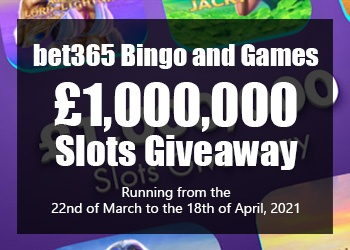 bet365 Slots Giveaway Promo 2021