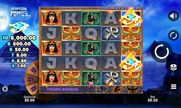 Egyptian Tombs - Video Slot - Game