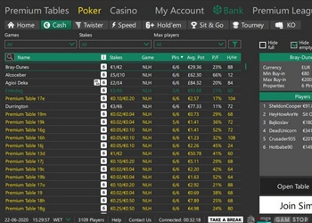 bet365 Poker Lobby