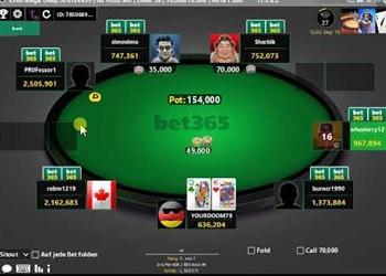 bet365 Poker Table
