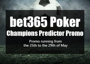 bet365 Poker Champions Predictor Promo