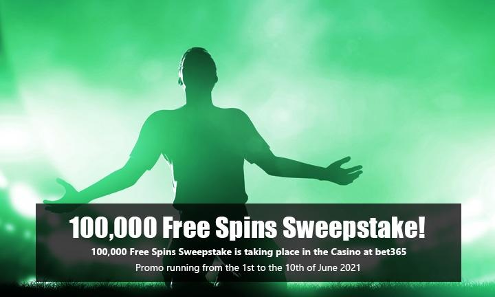 100k Free Spins Sweepstake - Main Image - Casino Promo