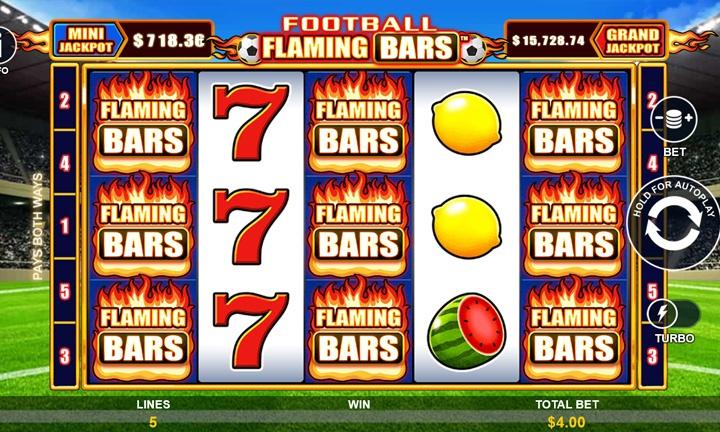 Flaming Bars - Video Slot - Game