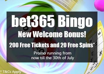 bet365 Bingo Welcome Bonus 2021