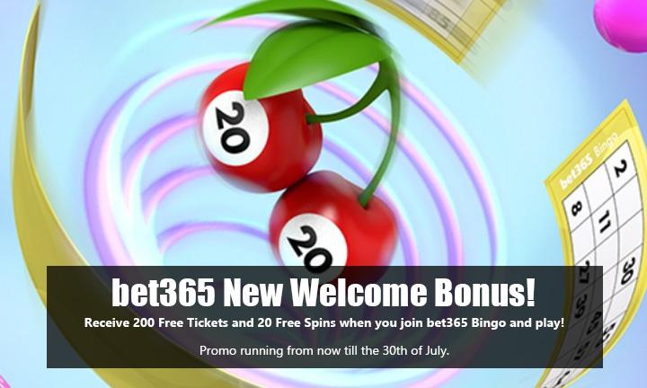 bet365 Bingo - New Welcome Bonus