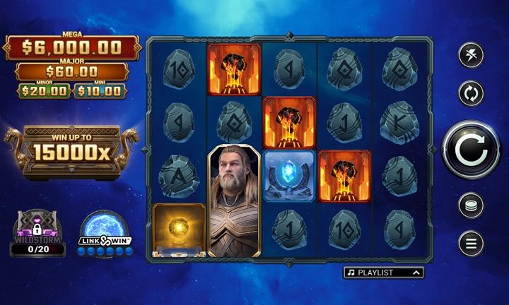 Thunderstruck Wild Lightning Slot Game Image