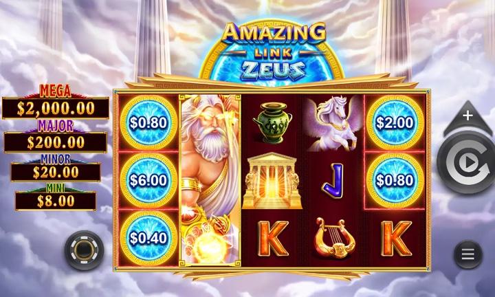 Amazing Link Zeus Slot Game Image
