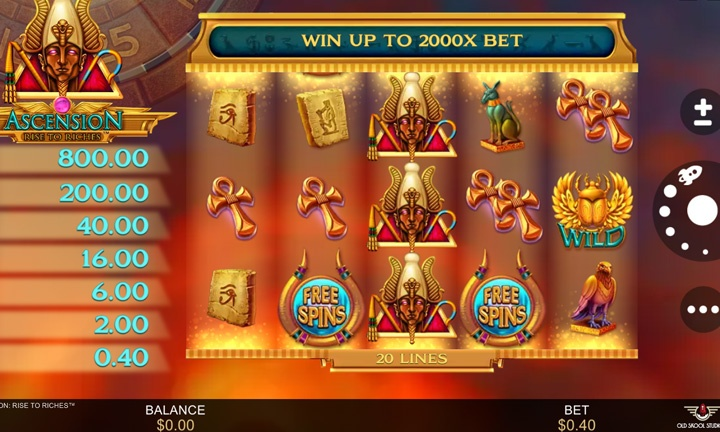 Ascension Rise to Riches Slot Game Image