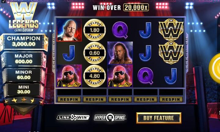 WWE Legends Slot Game Image